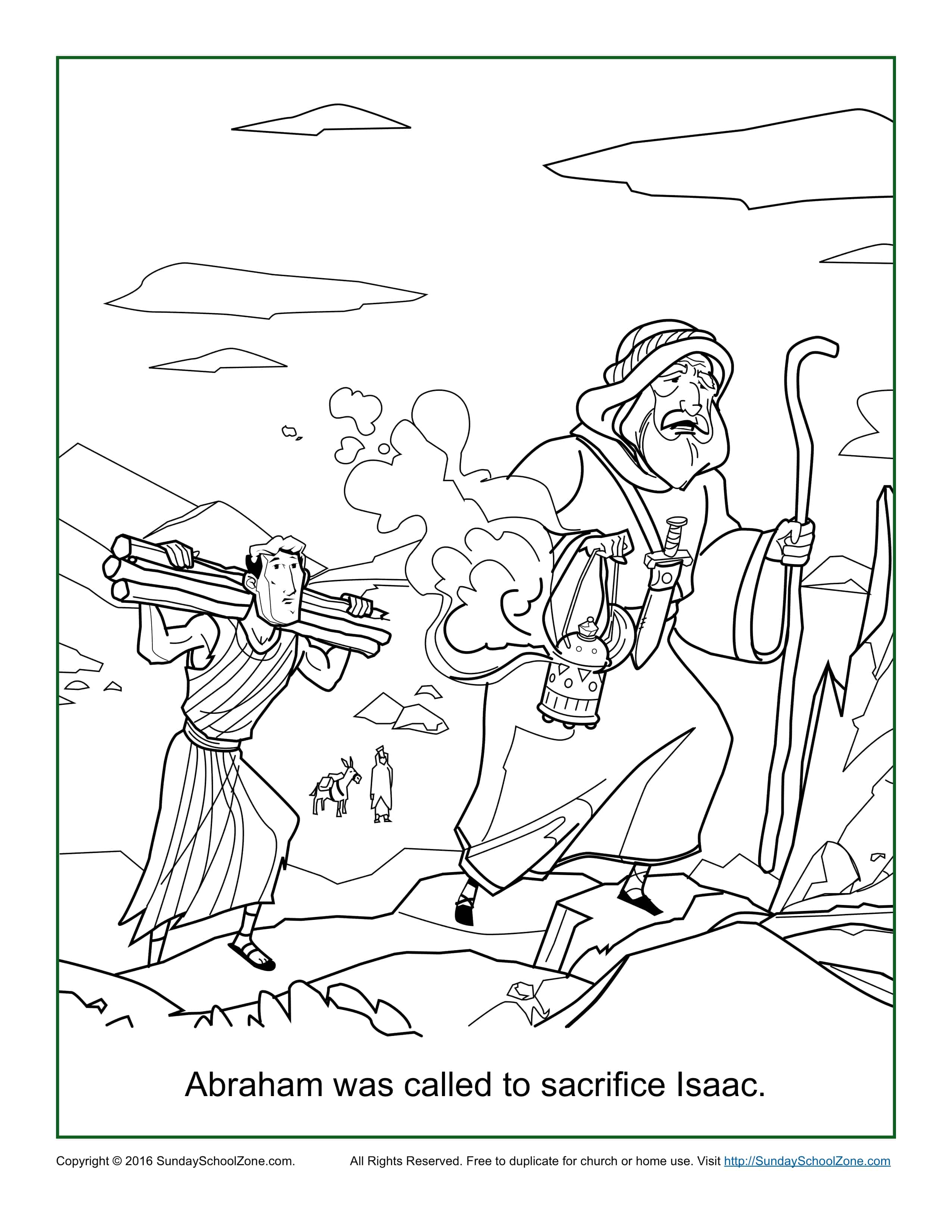 Abraham Was Called to Sacrifice Isaac Coloring Page ...
