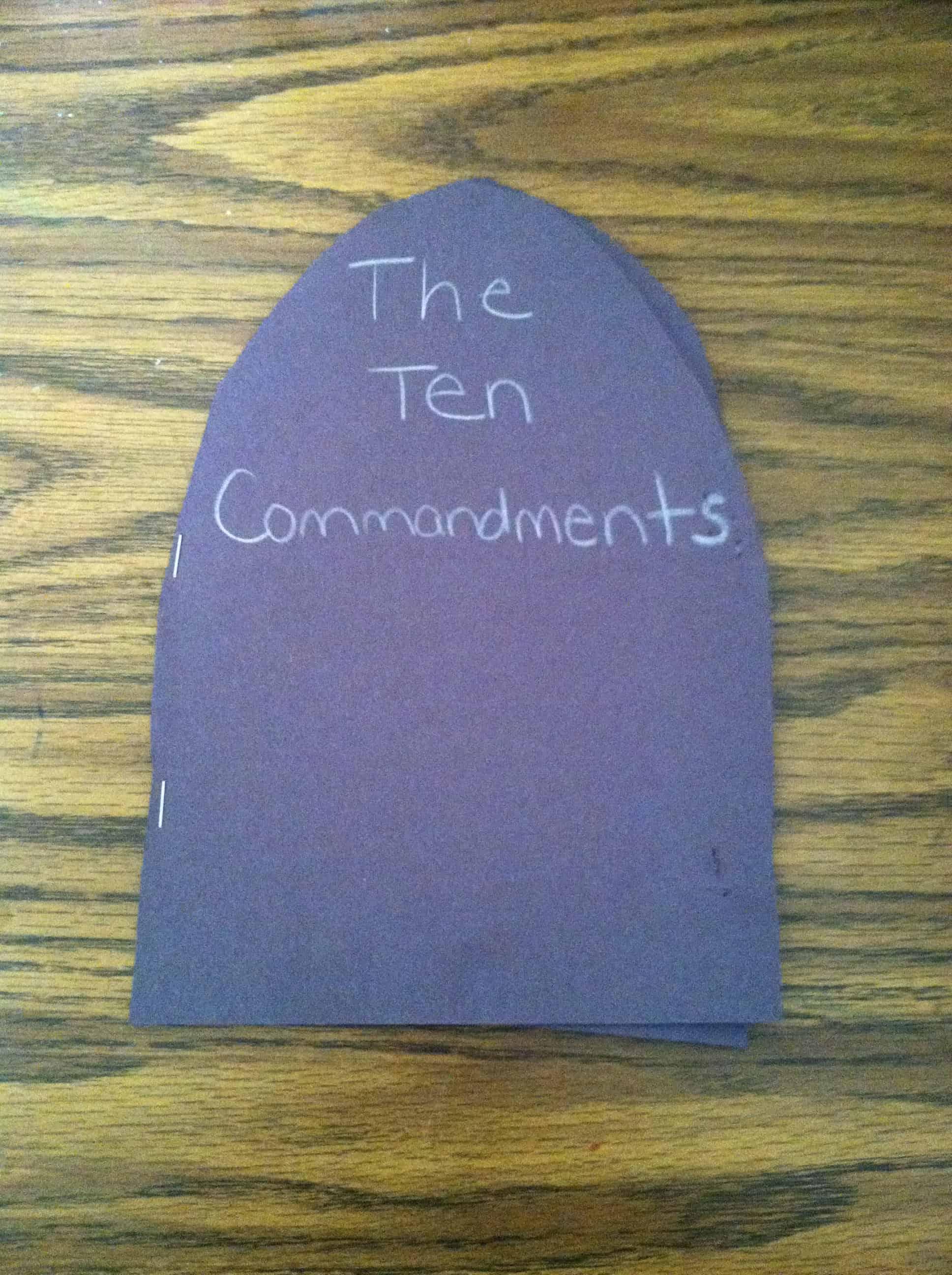 God Gave Moses The Ten Commandments Bible Craft Children