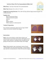 Ten Commandments for Kids Bible Craft