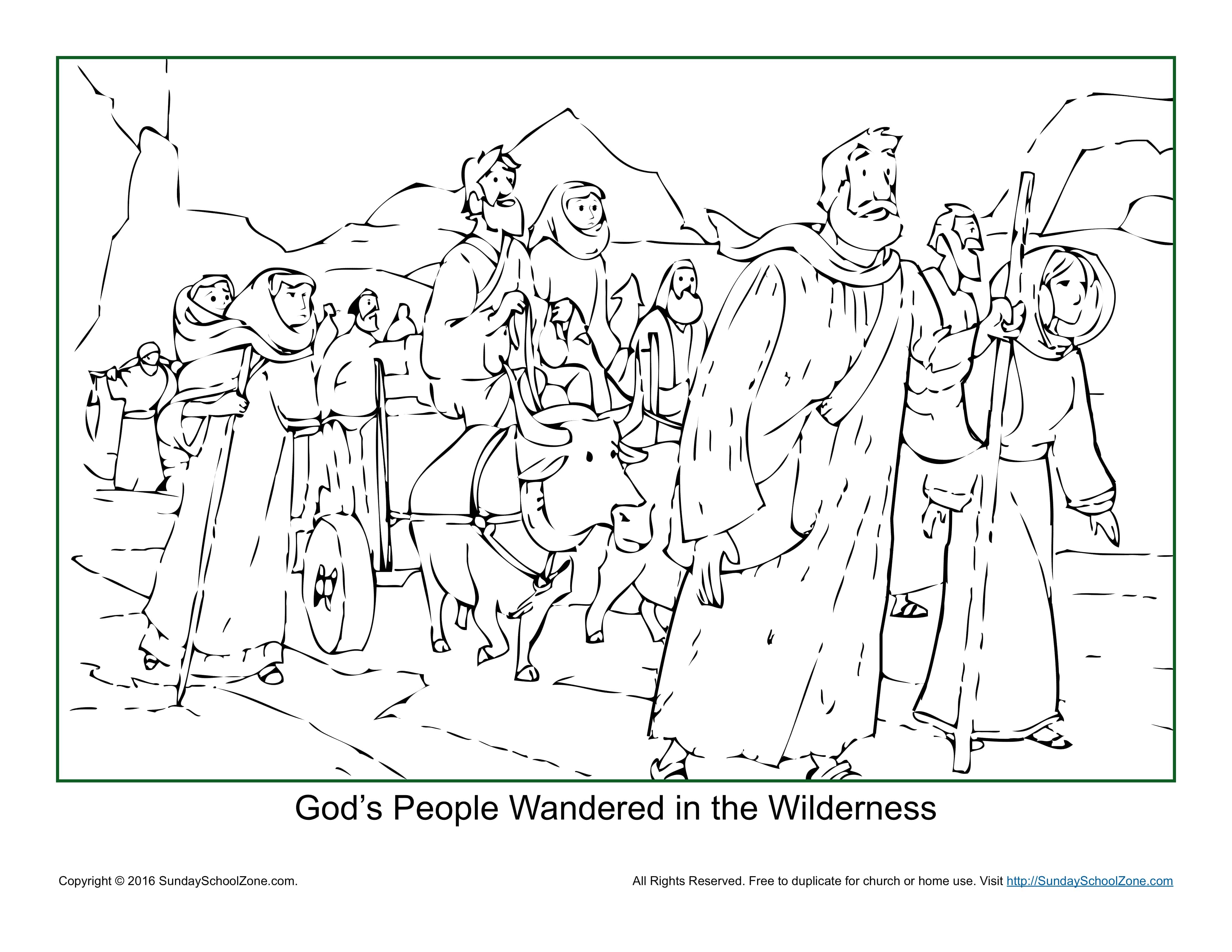 Gods People Wandered In The Wilderness Coloring Page