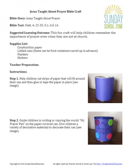 Fun Bible Crafts For Kids On Sundayschoolzone Com