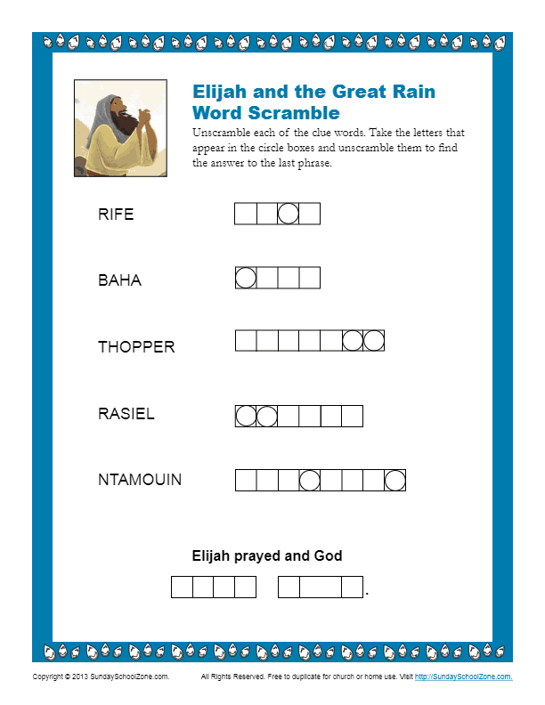 Elijah and the Great Rain Word