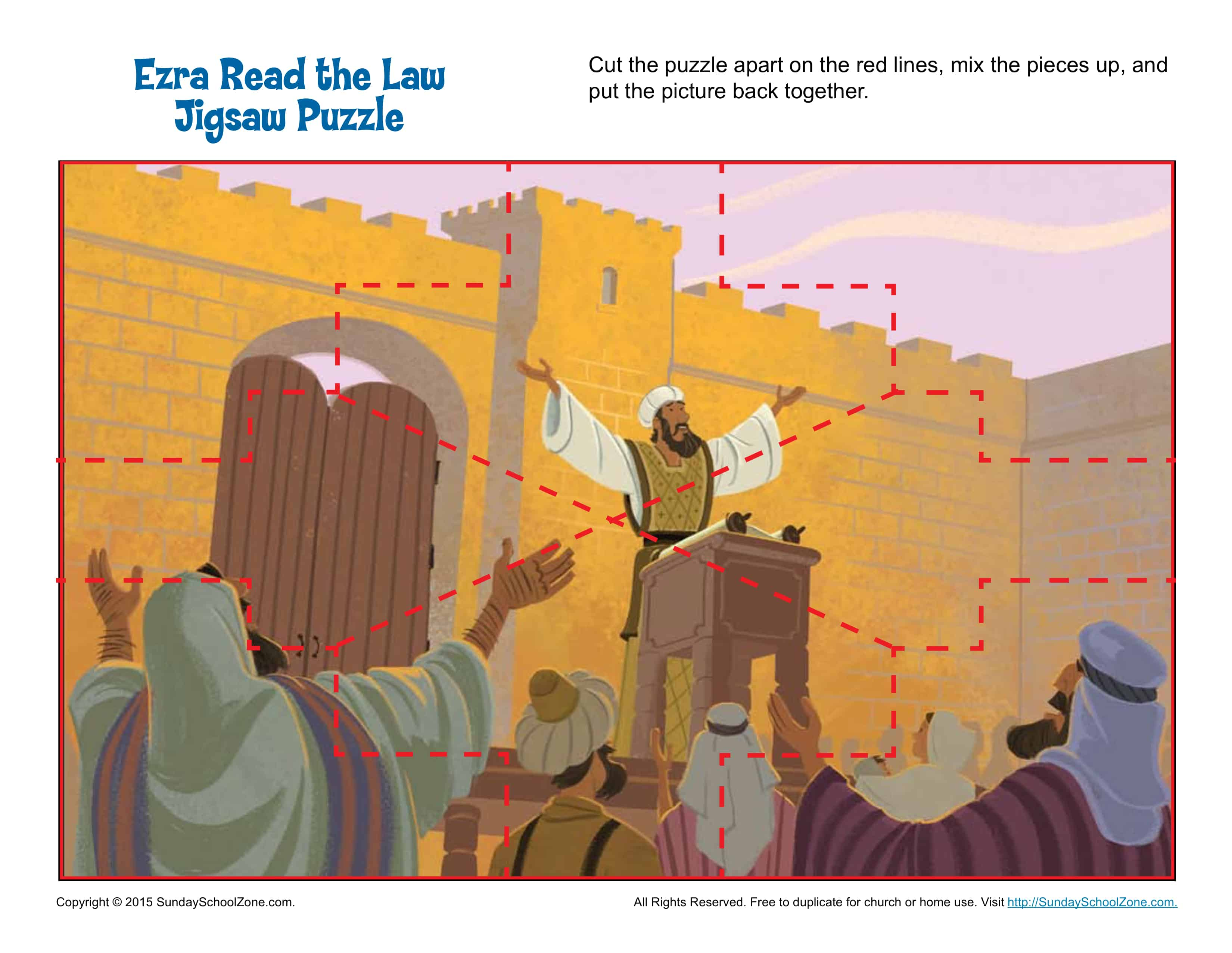 Ezra Read The Law Jigsaw Puzzle Children S Bible