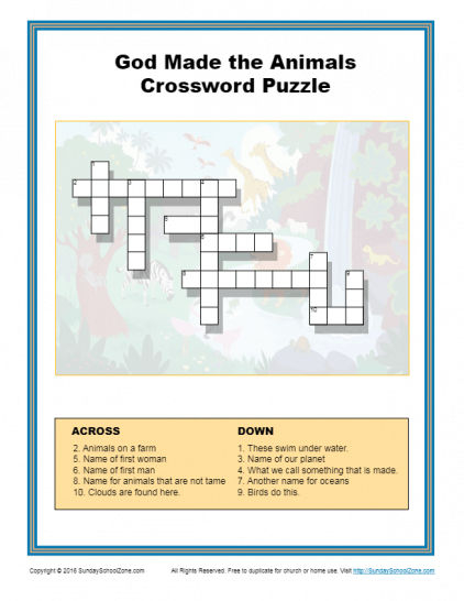 graphic relating to Printable Crossword Puzzles for Teens known as Bible Crossword Puzzles Bible Lesson Functions for Small children