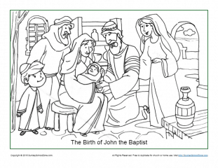 The Birth of Jesus New Testament Coloring Pages - The Flight into ... | 240x311