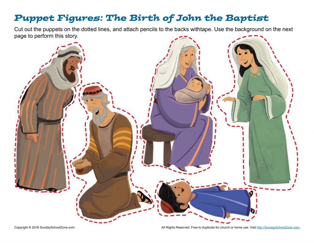 The Birth of John the Baptist Puppets - Children's Bible ...
