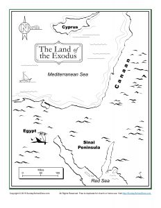 The Land Of The Exodus Bible Map Children S Bible
