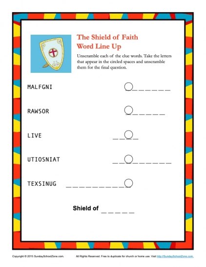 picture relating to Armor of God Printable Activities titled Armor of God for Little ones Routines upon Sunday College Zone