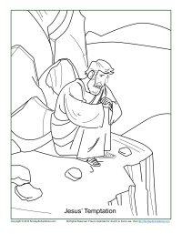 Jesus Temptation Coloring Page