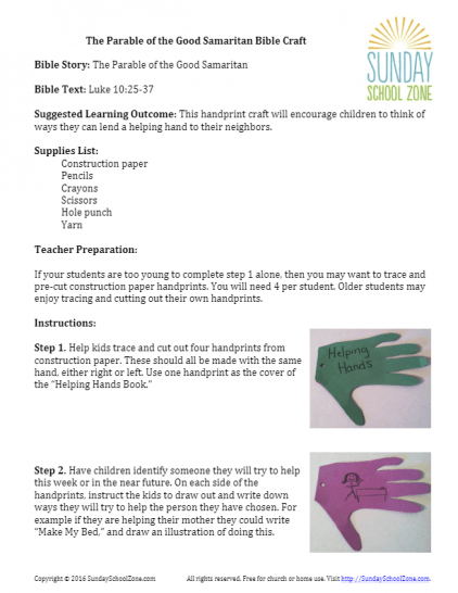 The Good Samaritan Archives - Children's Bible Activities