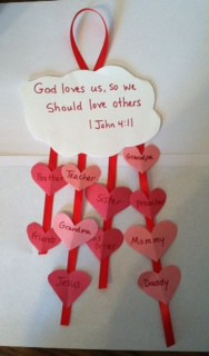 John Wrote About Love Bible Craft