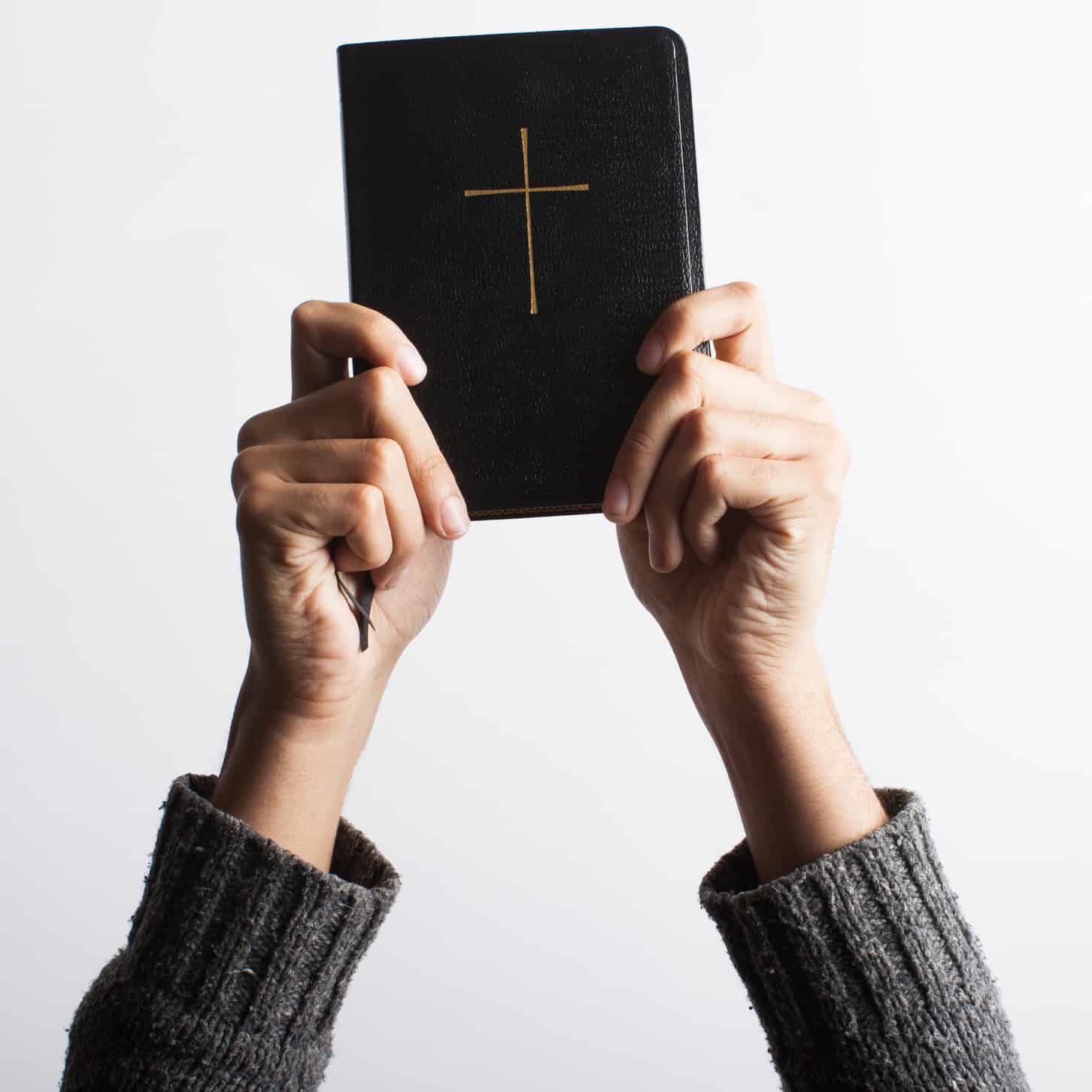 Bible in Hands Cropped