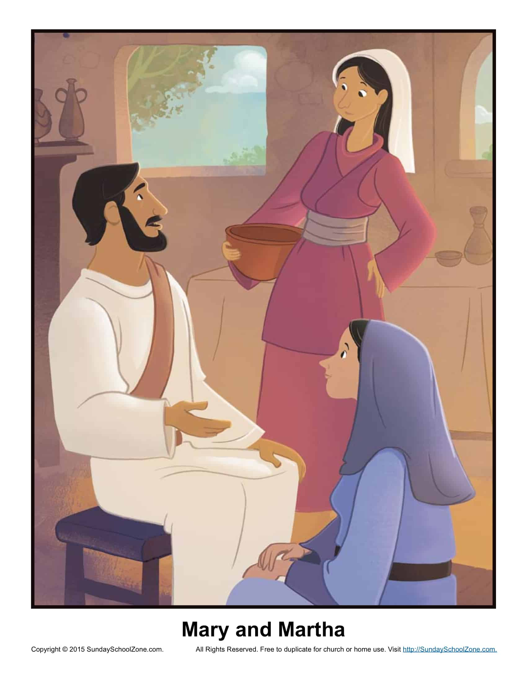 Mary and Martha Hour B Lesson Plan Children 39 s Bible