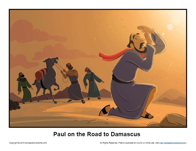 Paul On The Road To Damascus Story Illustration