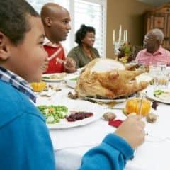 18735815 - multi generation family celebrating thanksgiving