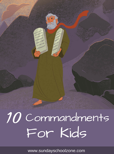 graphic regarding 10 Commandments Poster Printable identified as 10 Commandments for Young children