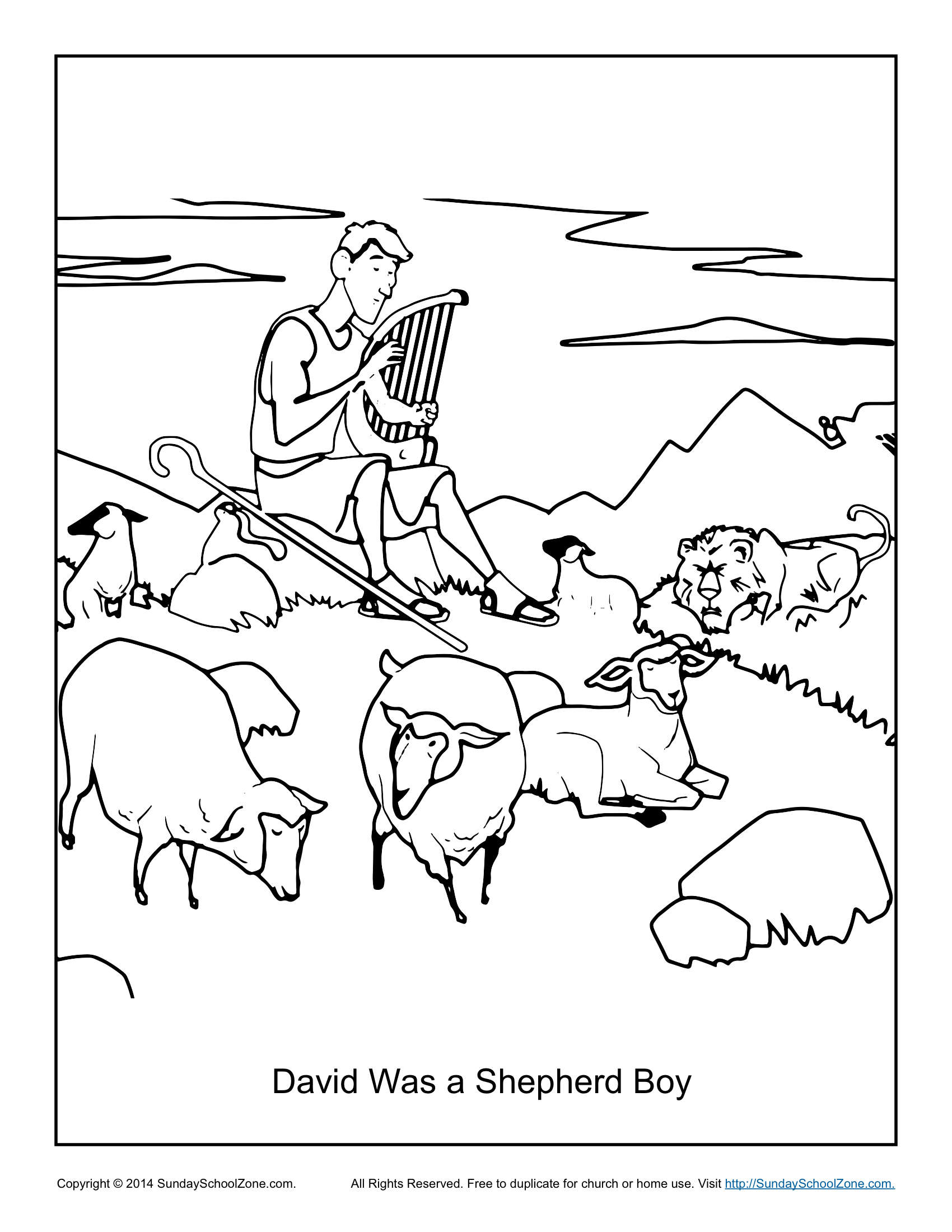 David Was A Shepherd Boy Coloring Page