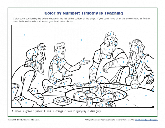 Color by Number Bible Coloring