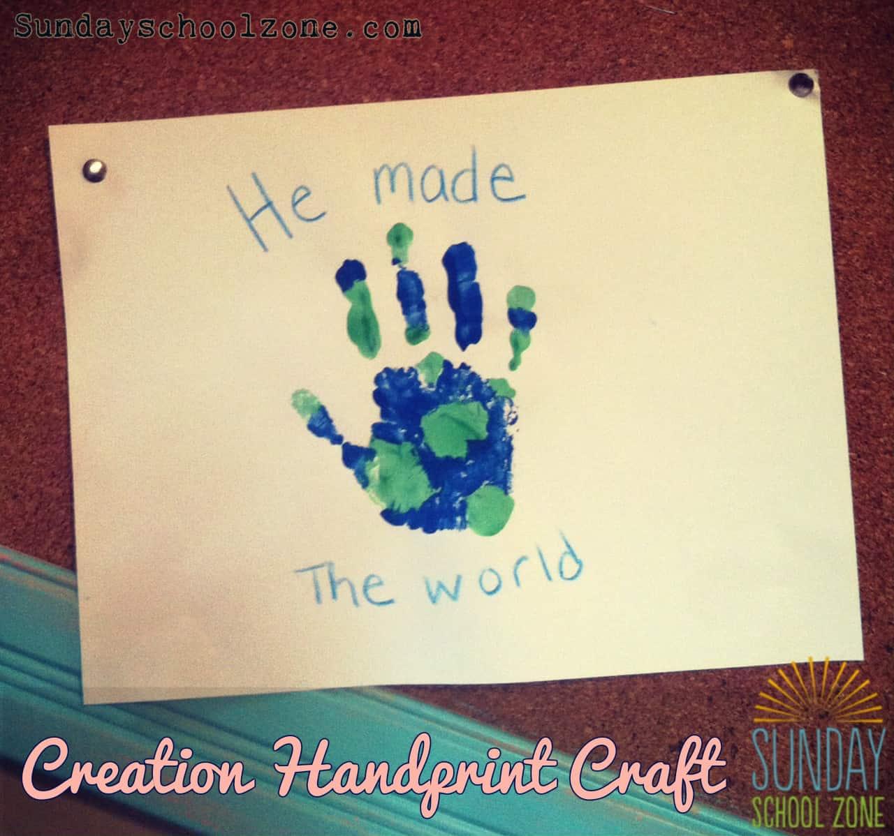 Creation Handprint Craft