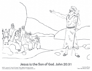 John Introduced Jesus Coloring Page