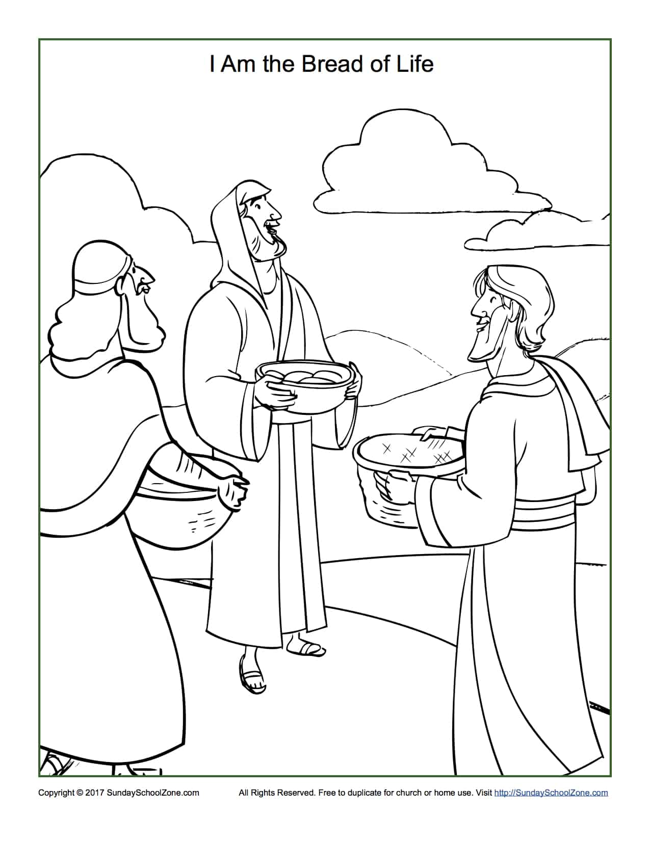 bread of life coloring pages - photo#6