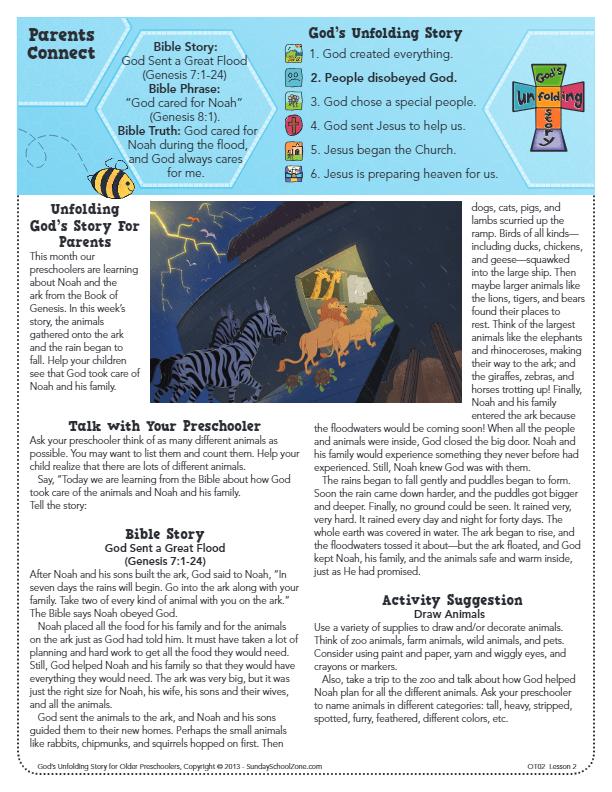 Genesis 7 Archives - Children's Bible Activities | Sunday