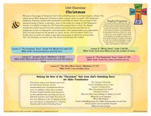 Christmas Lessons For Sunday School.Christmas Unit Overview Page Children S Bible Activities