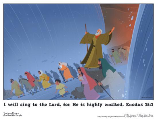 Exodus 14 Archives - Children's Bible Activities | Sunday School