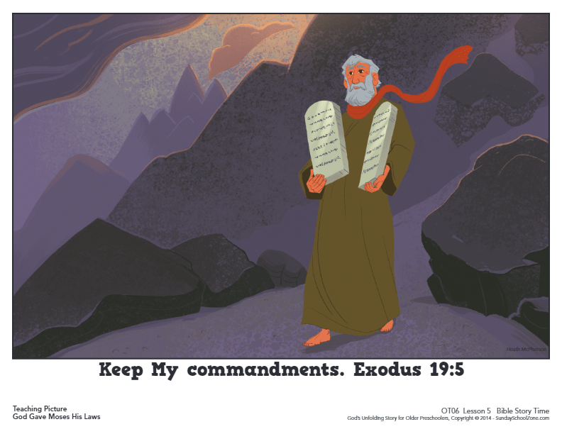 10 Commandments for Kids | Sunday School Bible Lesson Activities