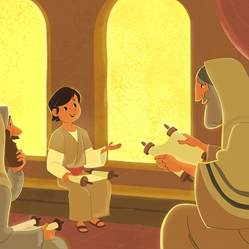 In The Temple As A Boy
