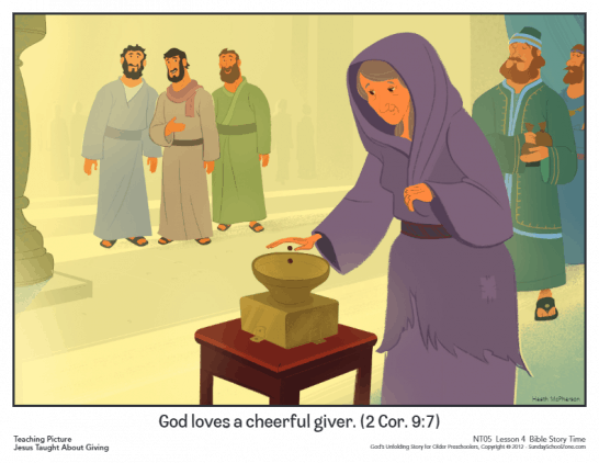 7800 Bible Coloring Pages Widows Mite , Free HD Download