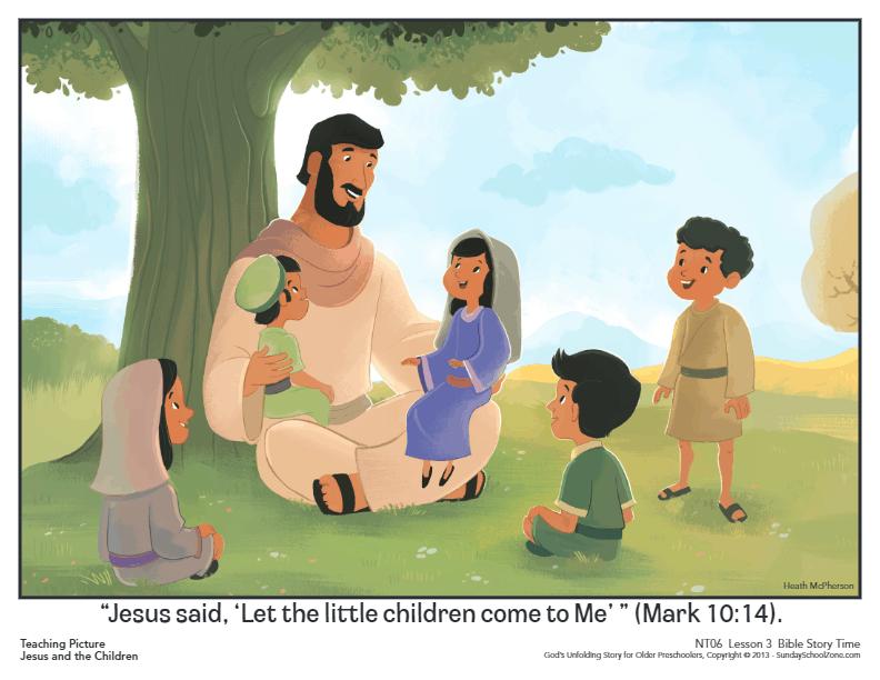 Jesus and the Children Archives - Children's Bible Activities