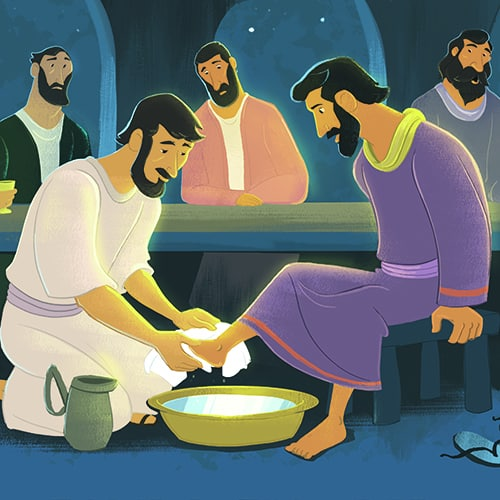 Jesus Washed The Disciples Feet Teaching Picture