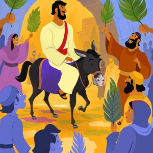 Just A Few Days Before He Was Crucified Jesus Rode Donkey Into Jerusalem As The People Waved Palm Branches And Shouted Hosanna