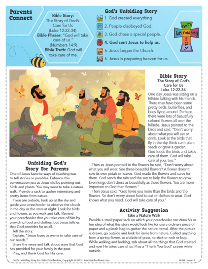 The Story of God's Care for Us Archives - Children's Bible