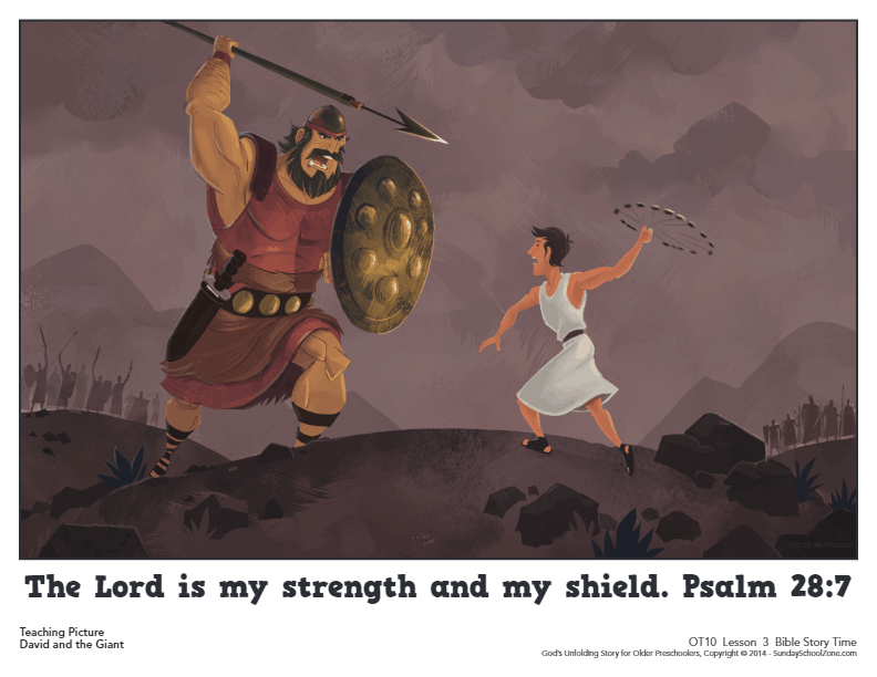 Free, Printable David and Goliath Bible Activities on Sunday