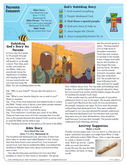 Free, Printable Ezra and the Law Bible Activities on Sunday School Zone