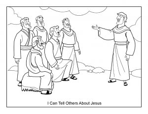 I Can Tell Others About Jesus Coloring Page