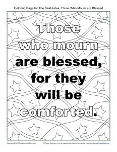 Those Who Mourn Beatitudes Coloring Page On Sunday School Zone