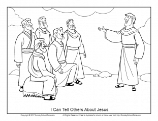 I Can Tell Others About Jesus Coloring Page On Sunday School