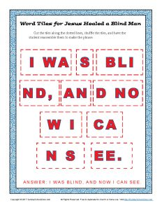 To Place Tiles Paper Squares With Certain Letters In The Proper Order So They Convey A Selected Bible Phrase Or Sentence These Free Printable Word