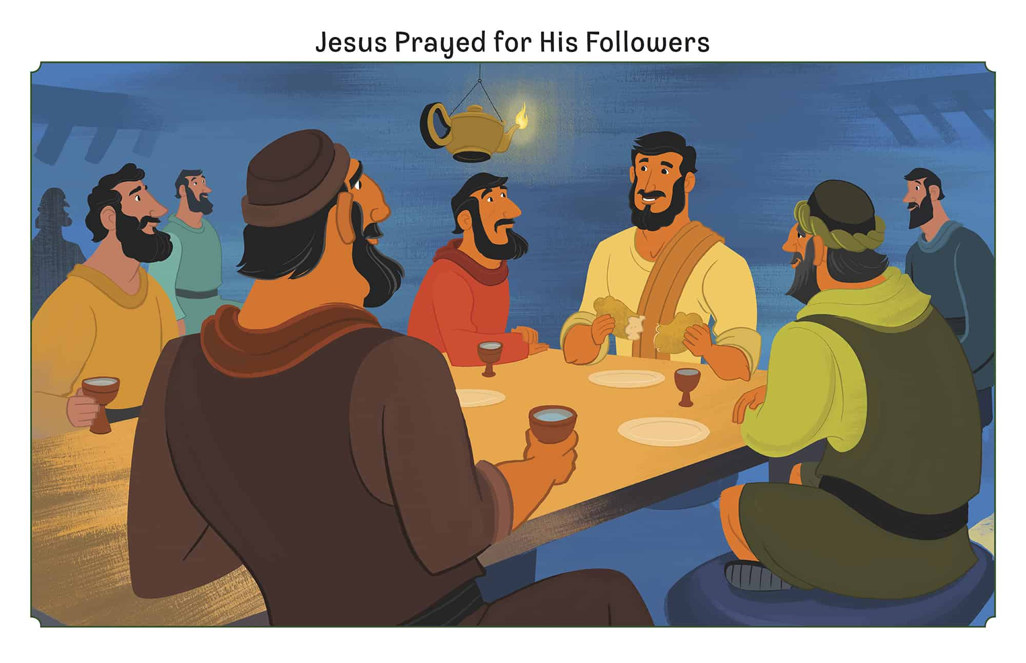 jesus prayed for his followers teaching picture on sunday