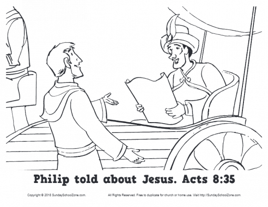 Philip Told About Jesus Coloring Page pdf image 546x422