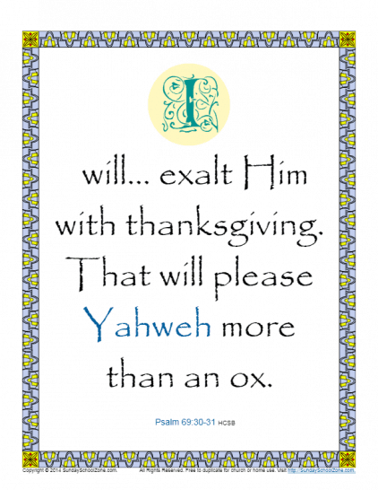 Free Printable Bible Activities About Gratitude on Sunday School Zone