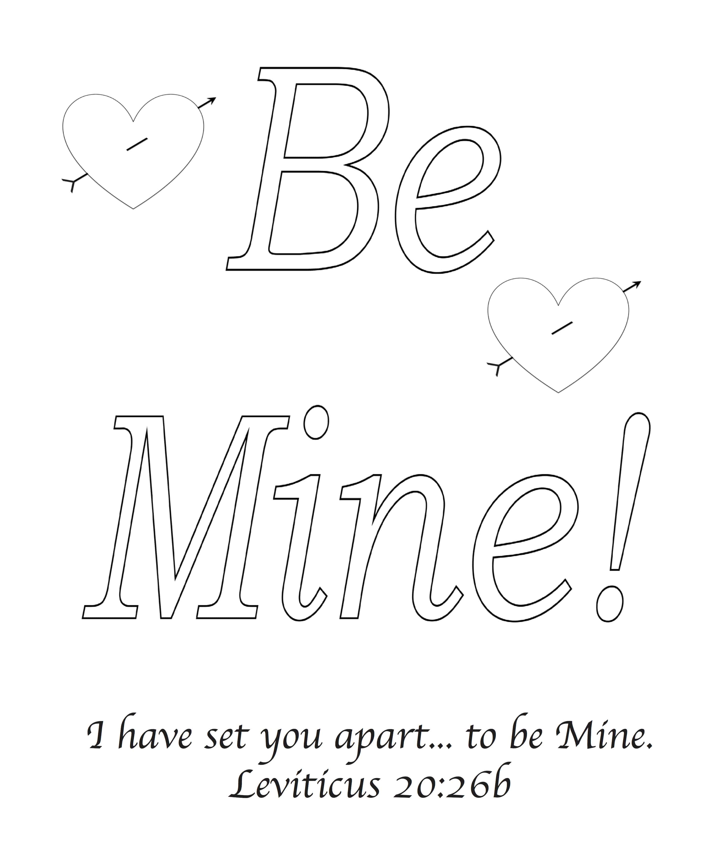 Be Mine Valentine S Day Bible Greeting Card With Leviticus