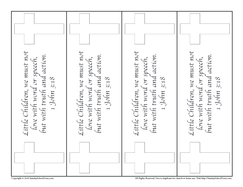Printable Bible Bookmarks For Kids On Sunday School Zone