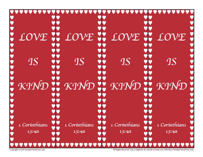 photograph relating to Printable Valentines Bookmarks identified as Totally free, Printable Valentines Working day Bookmarks upon Sunday Higher education Zone