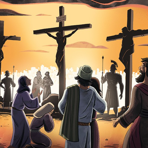Illustration of Jesus 39 Crucifixion