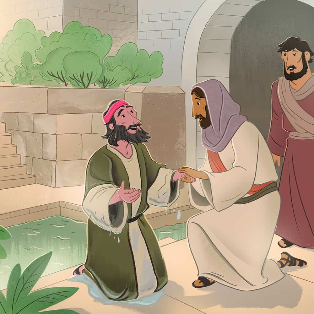 New Coloring Page Jesus Heals A Man Born Blind John 9 A Href Http ... | 1000x1000
