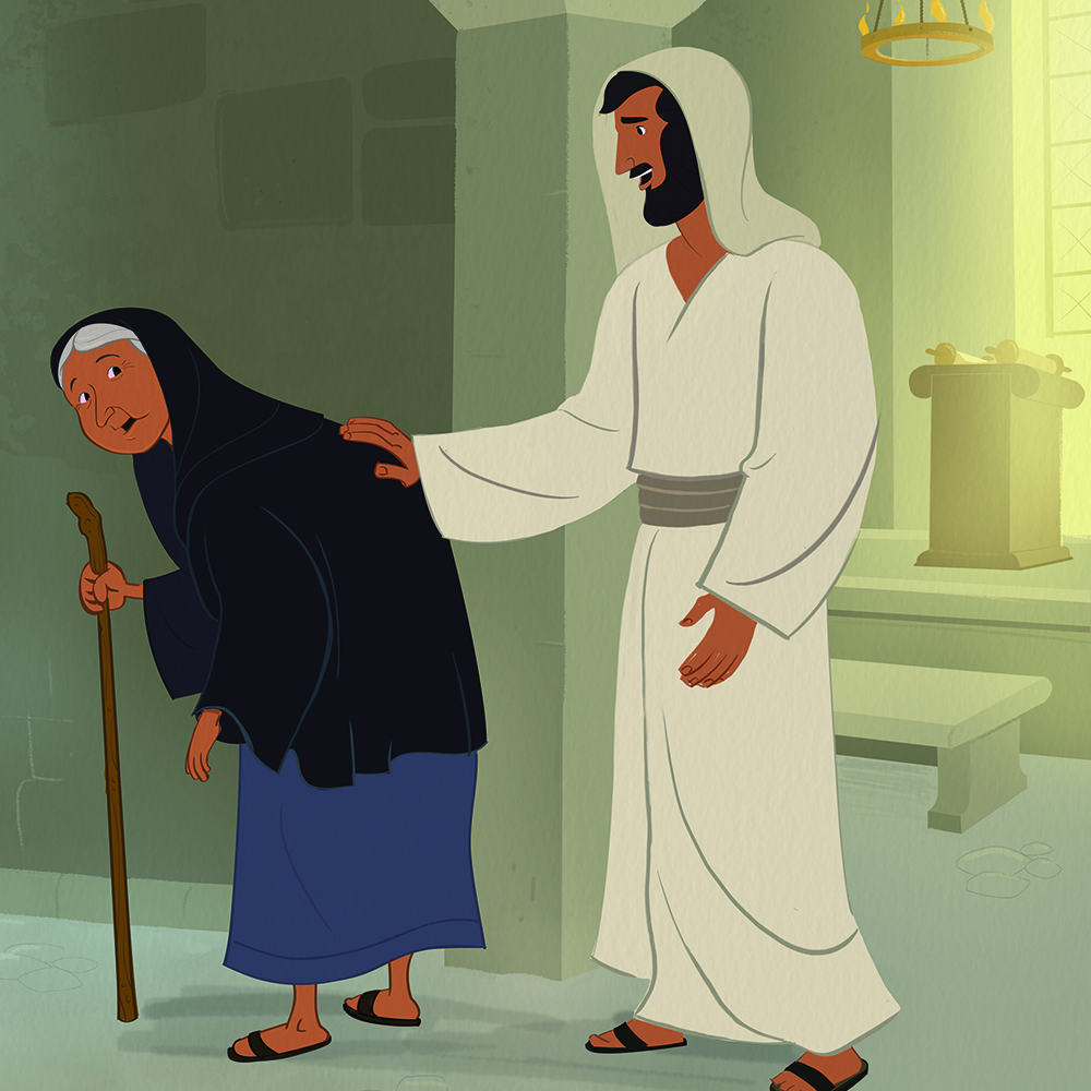 Jesus Healed a Woman with a Crooked Back Archives
